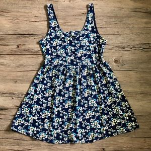 one clothing Dresses - Blue Floral Sundress - One Clothing
